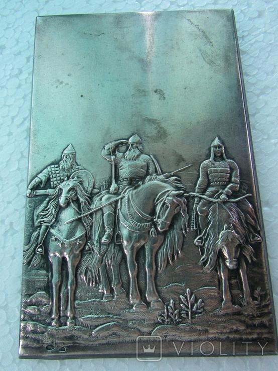 Серебряная накладка Три богатыря, фото №4