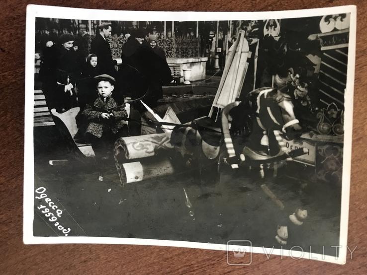 1959 Одесса Аттракцион Сани Лошадка, фото №2