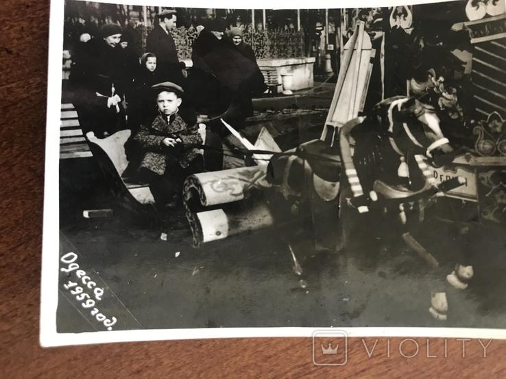 1959 Одесса Аттракцион Сани Лошадка, фото №3