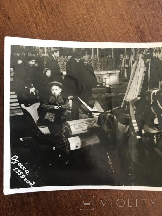 1959 Одесса Аттракцион Сани Лошадка, фото №4