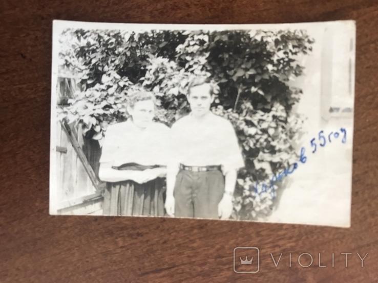 1955 Харьков Семья у дома, фото №2