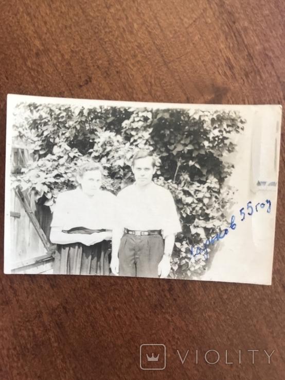1955 Харьков Семья у дома, фото №3