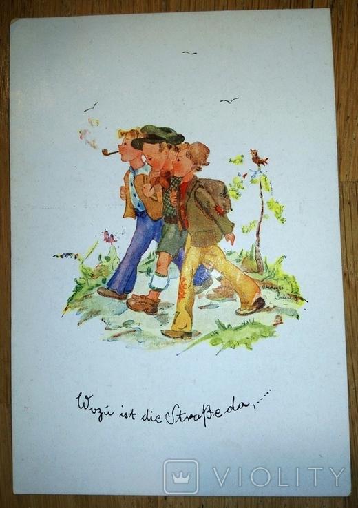 Открытка Дети. Германия 1946, фото №2