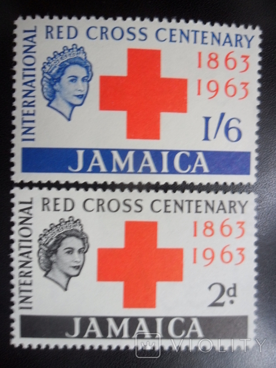Британские колонии. Ямайка. 1963 г. Красный Крест. МН, фото №2