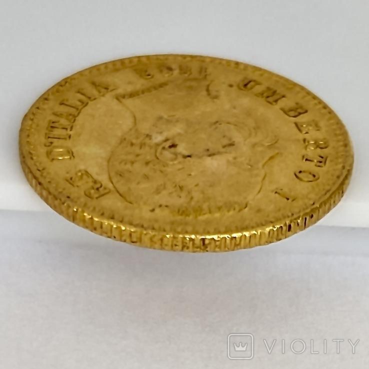 20 лир. 1882. Умберто I. Италия. (золото 900, вес 6,47 г), фото №12