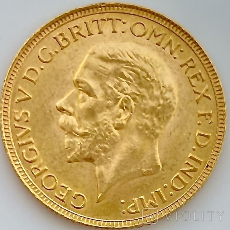 1 фунт (соверен). 1931. Георг V. Великобритания (проба 917, вес 8,00 г), фото №4