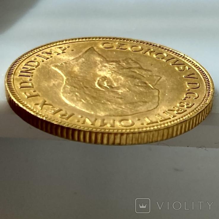 1 фунт (соверен). 1931. Георг V. Великобритания (проба 917, вес 8,00 г), фото №13