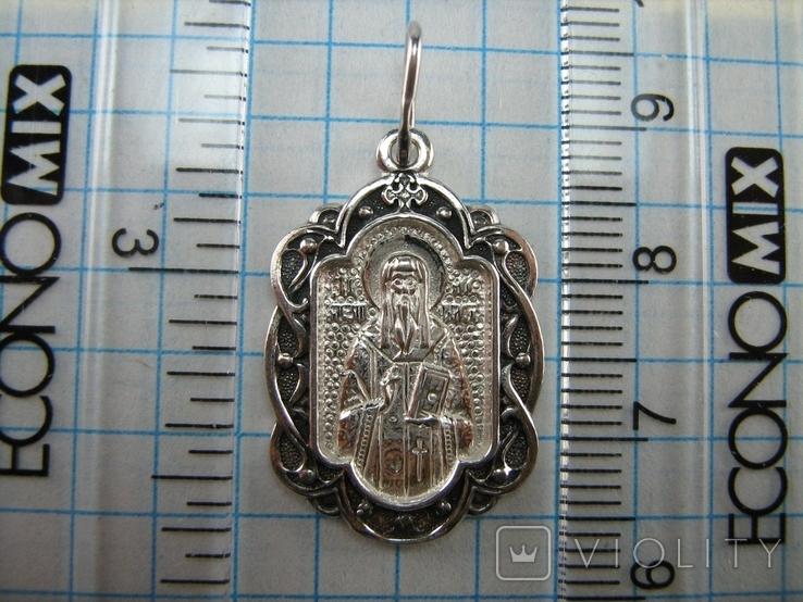 Новый Серебряный Кулон Ладанка Святой Алексей Алезий Серебро 925 проба 683, фото №4
