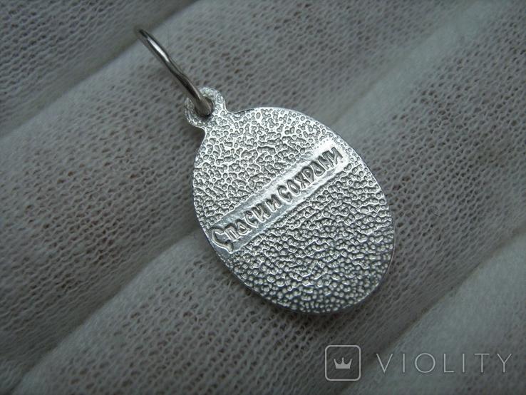 Серебряный Кулон Подвеска Образок Ладанка Святая Ирина Серебро 925 проба 677, фото №3