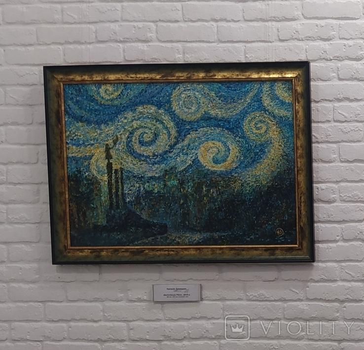 """Картина """"Ніч над містом"""", олія, полотно, репліка., фото №3"""