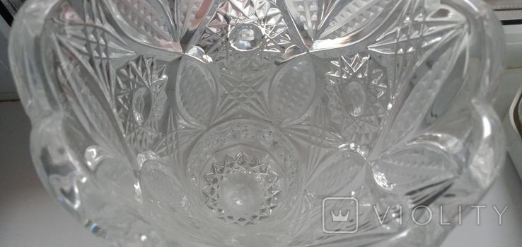 Большая ваза хрусталь СССР, фото №4