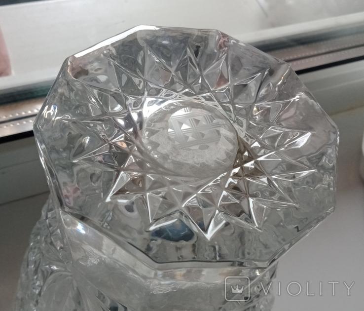 Большая ваза хрусталь СССР, фото №5