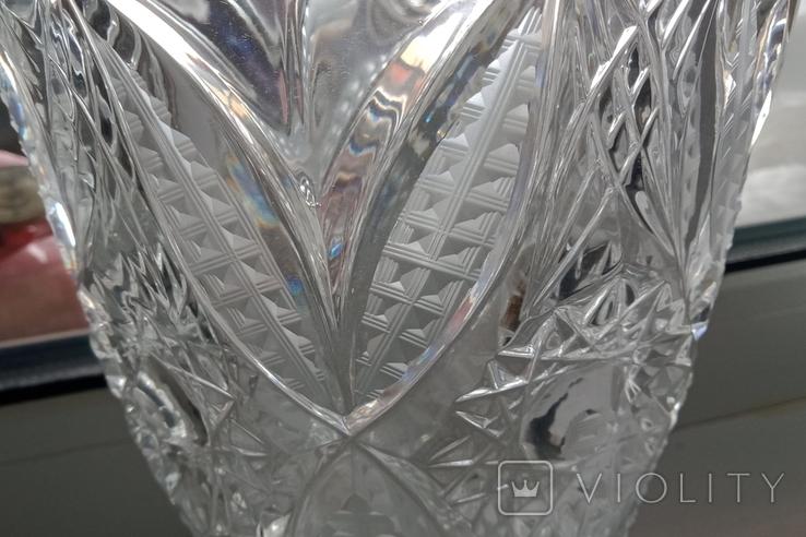 Большая ваза хрусталь СССР, фото №6