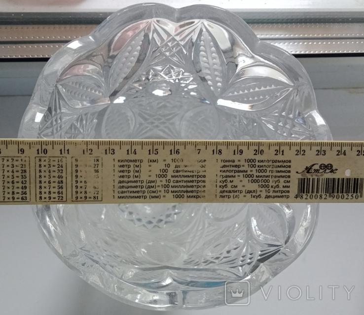 Большая ваза хрусталь СССР, фото №8