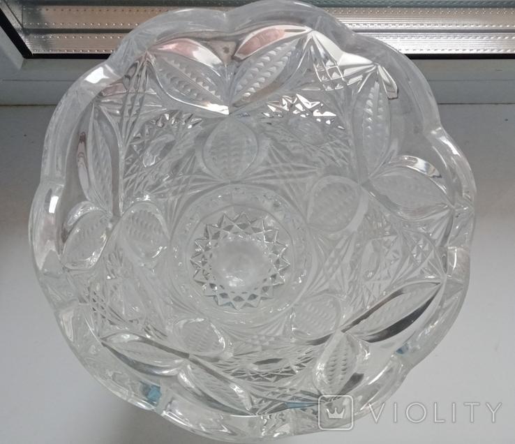 Большая ваза хрусталь СССР, фото №9