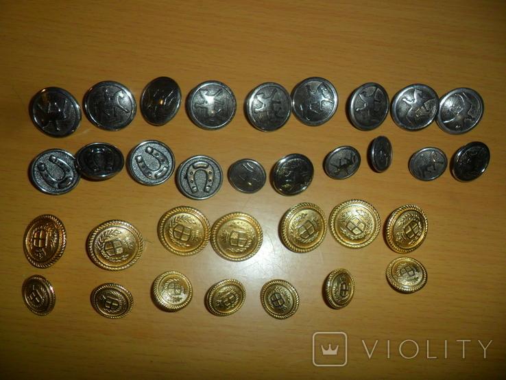 Пуговицы разные 43 шт в лоте пуговица подкова всадник и др., фото №2