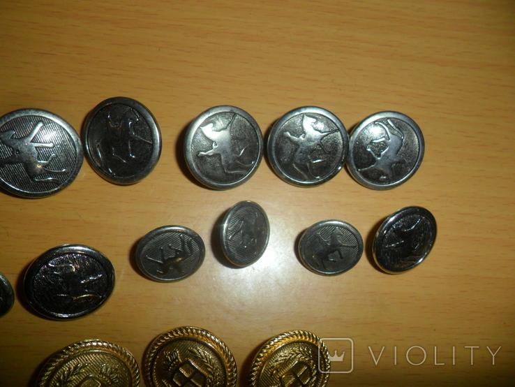 Пуговицы разные 43 шт в лоте пуговица подкова всадник и др., фото №4