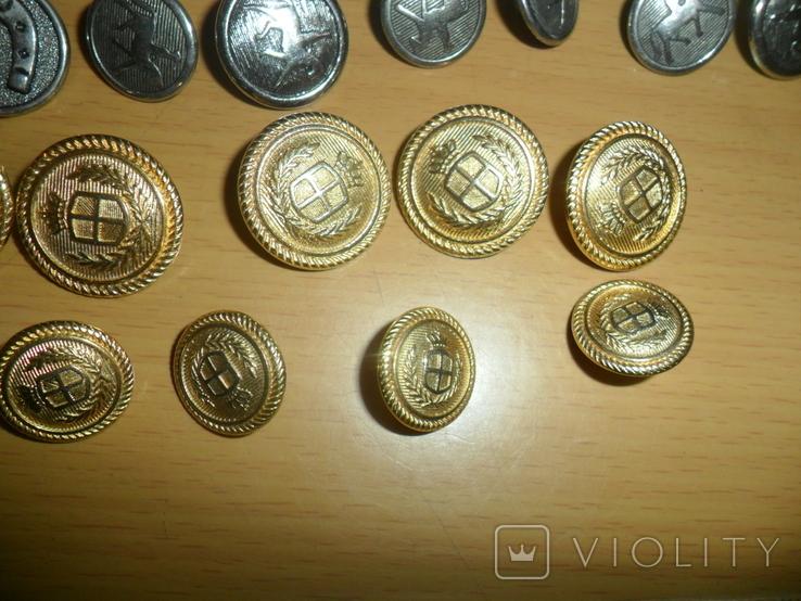 Пуговицы разные 43 шт в лоте пуговица подкова всадник и др., фото №6