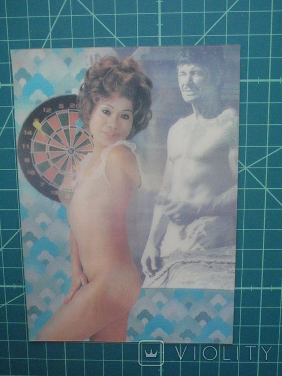Стерео открытка времен СССР. Девушка. Эротика., фото №3