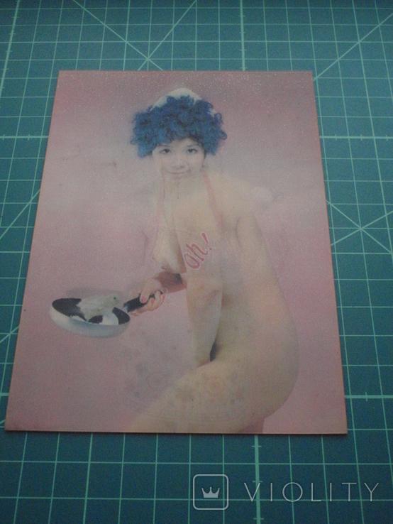 Стерео открытка времен СССР. Девушка. Эротика. 1, фото №4