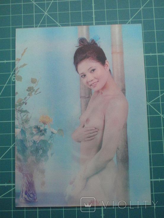 Стерео открытка времен СССР. Девушка. Эротика. 2, фото №2