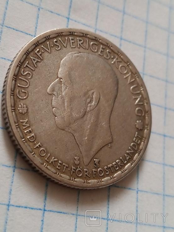 1 крона 1950 Швеція срібло, фото №5