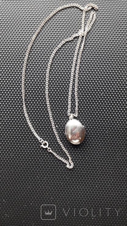 Срібний локет на ланцюжку, фото №3