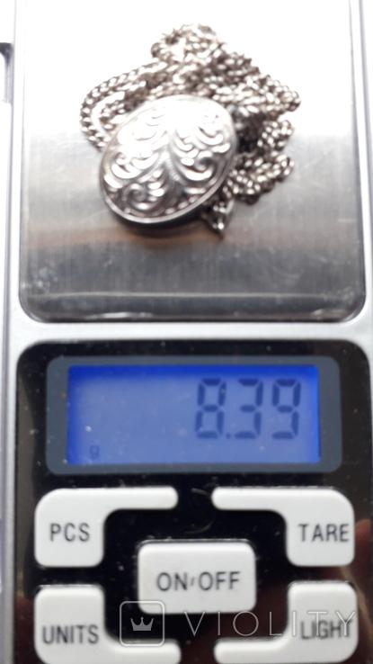 Срібний локет на ланцюжку, фото №9