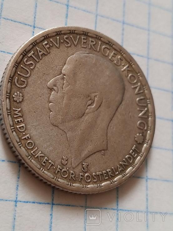 1 крона 1948 Швеція срібло, фото №5