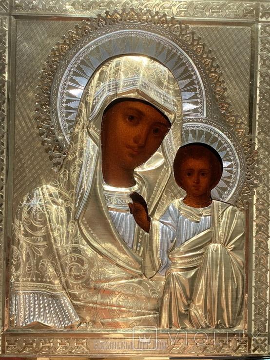 Казанская, 27х22см, серебро, фото №3