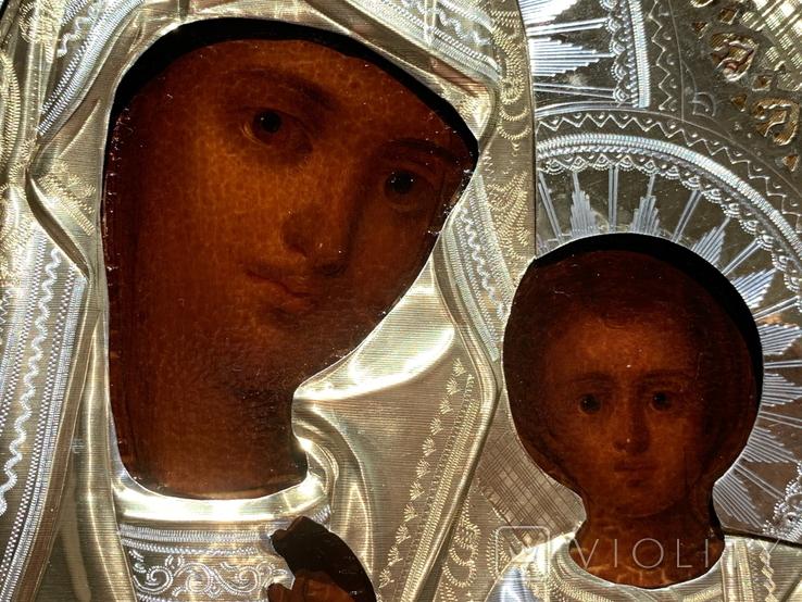 Казанская, 27х22см, серебро, фото №5