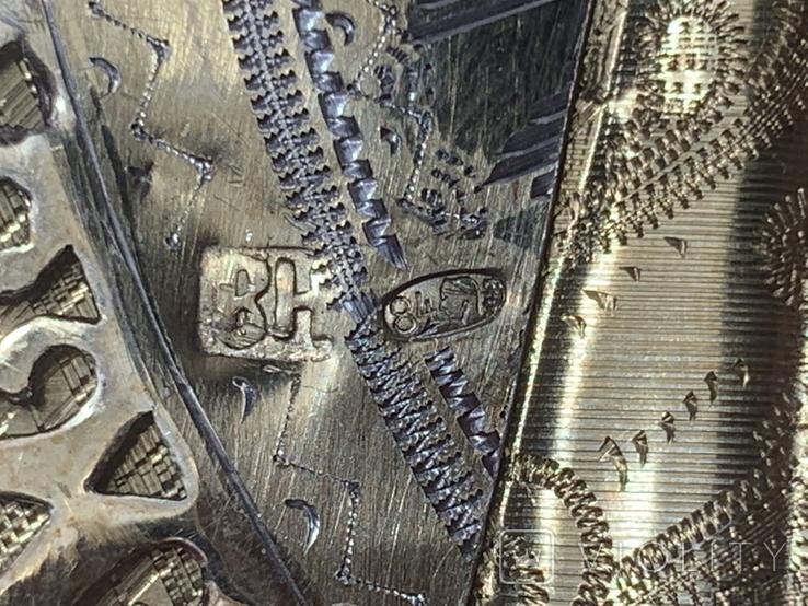 Казанская, 27х22см, серебро, фото №13