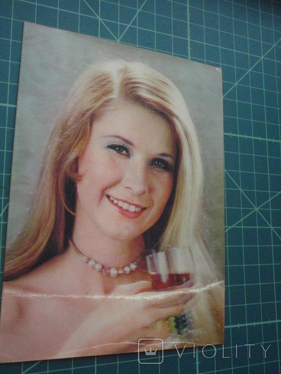 Стерео открытка времен СССР. Девушка., фото №3