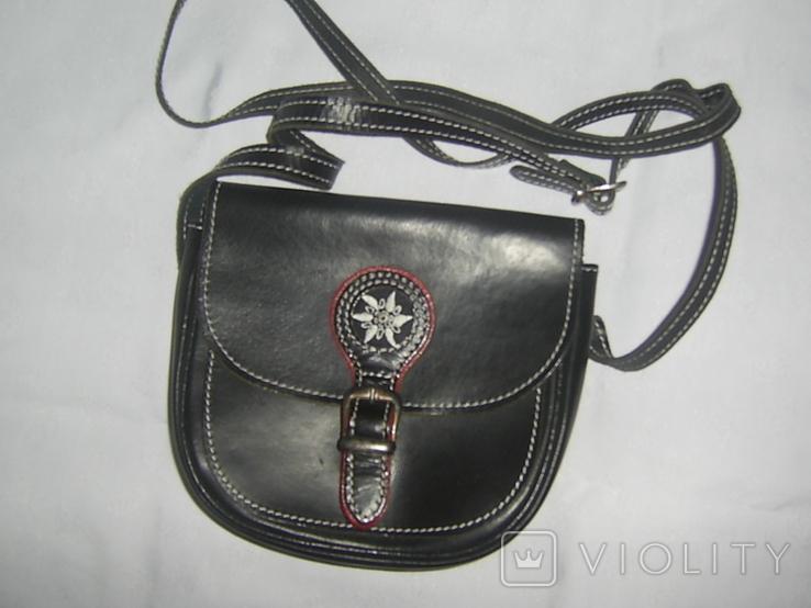 Сумочка на ремешке с альпийской символикой. новая, фото №3