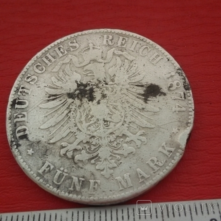 5 марок1871 г, фото №9