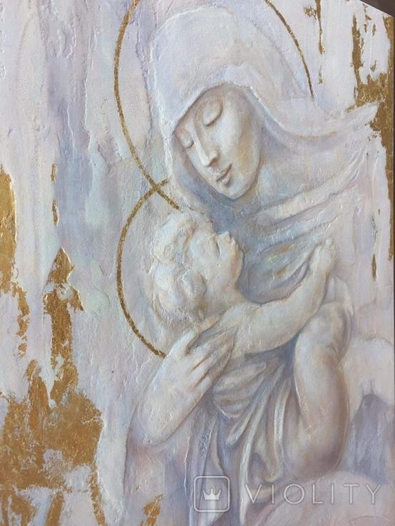 """Картина """"Мария с младенцем"""" 2021г, фото №3"""