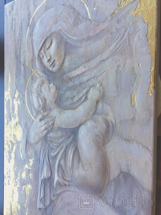 """Картина """"Мария с младенцем"""" 2021г, фото №4"""