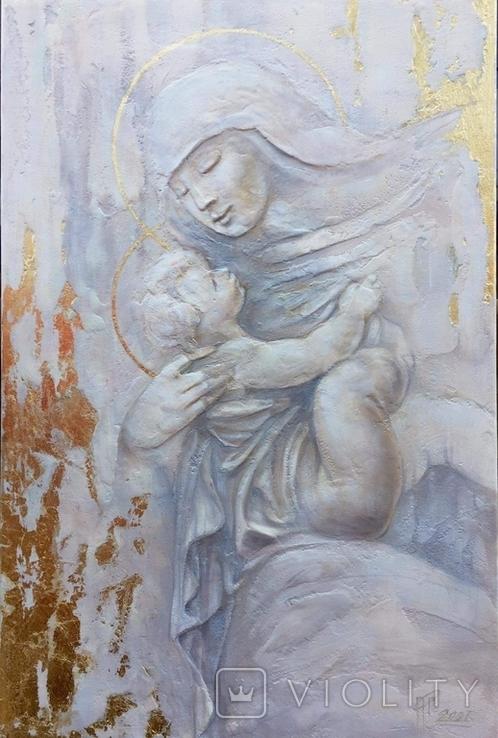 """Картина """"Мария с младенцем"""" 2021г, фото №5"""