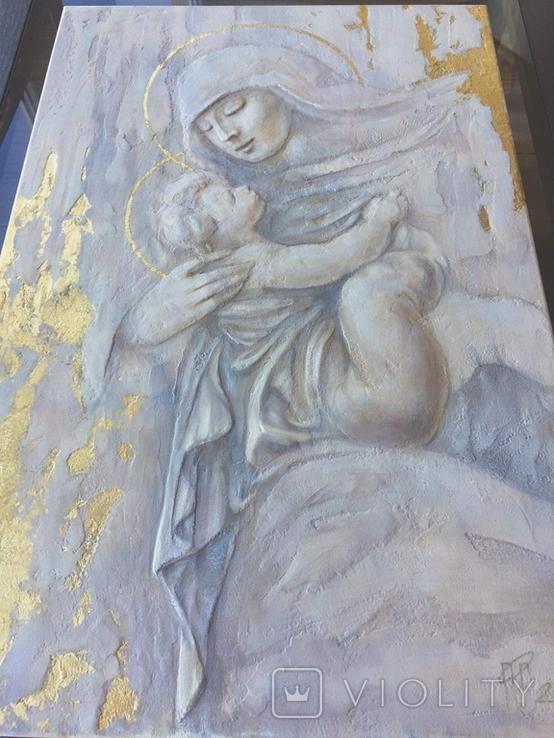 """Картина """"Мария с младенцем"""" 2021г, фото №6"""