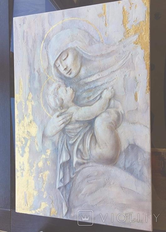 """Картина """"Мария с младенцем"""" 2021г, фото №7"""
