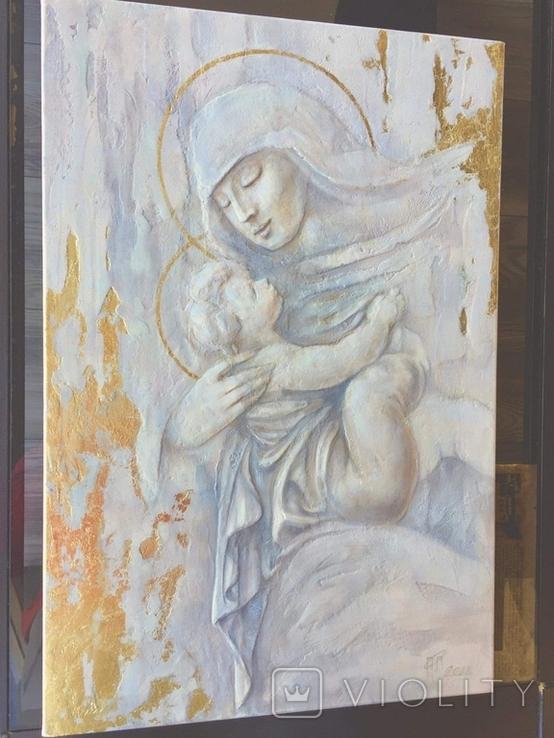 """Картина """"Мария с младенцем"""" 2021г, фото №8"""