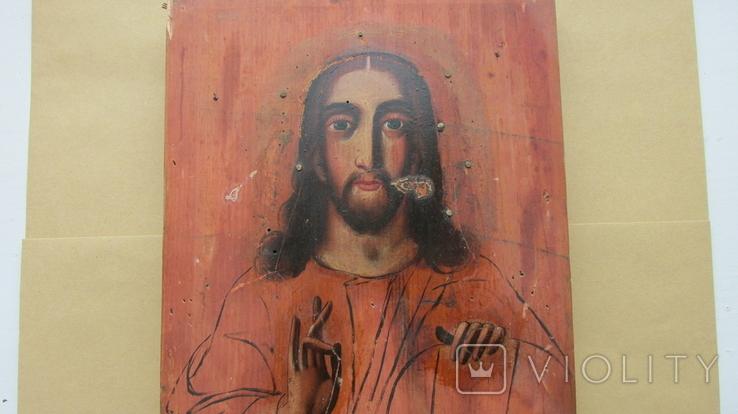 Икона Спаситель размер 17,5\22,5 см., фото №5