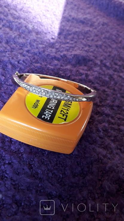 Браслет золотого тону з кристалами MS, фото №4