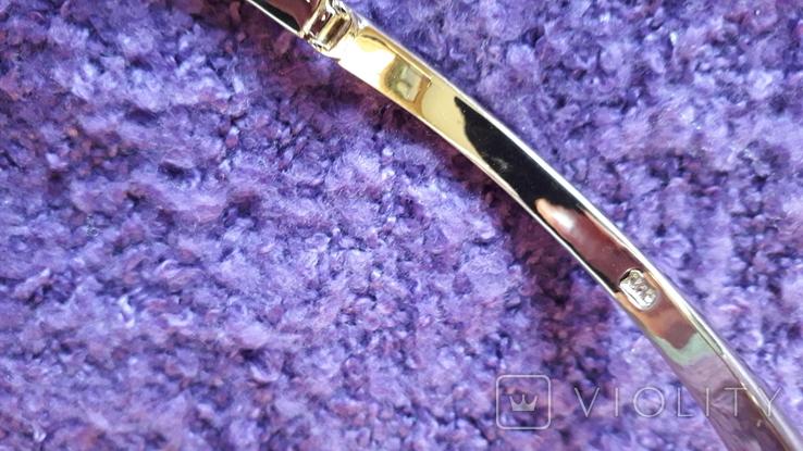 Браслет золотого тону з кристалами MS, фото №7