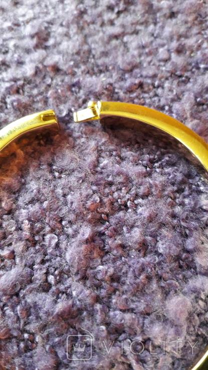 Браслет золотого тону з кристалами MS, фото №8