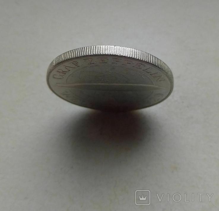1930 г - 5 марок Германии,Цеппелин,серебро, фото №6