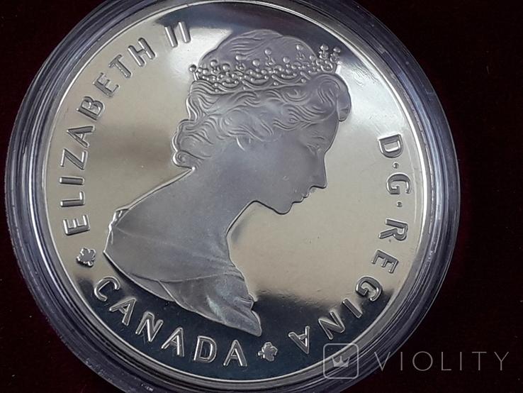 1 доллар, Канада, 1985 год, 100 лет Национальным паркам, серебро, в подарочной коробке, фото №7