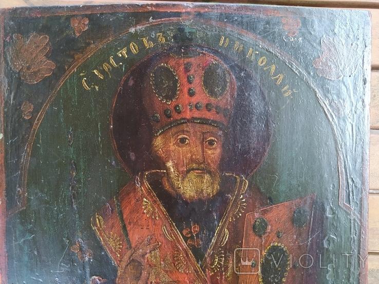 Икона Святой Николай (XIX) век, фото №3