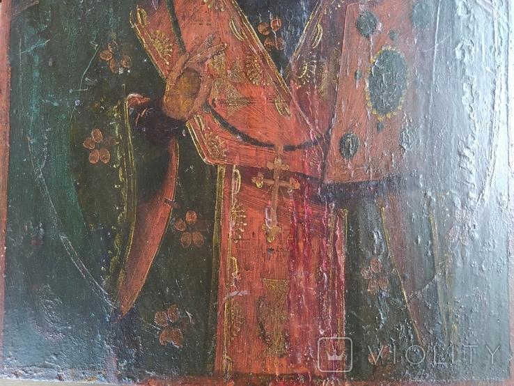 Икона Святой Николай (XIX) век, фото №4