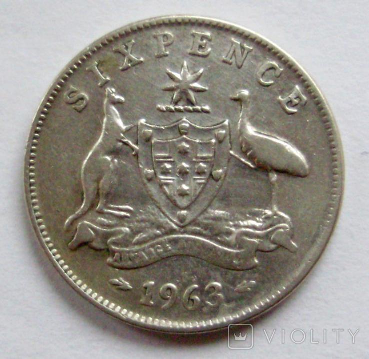 6 пенсів 1963р. Австралія., фото №2